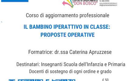 Il bambino iperattivo in classe: proposte operative